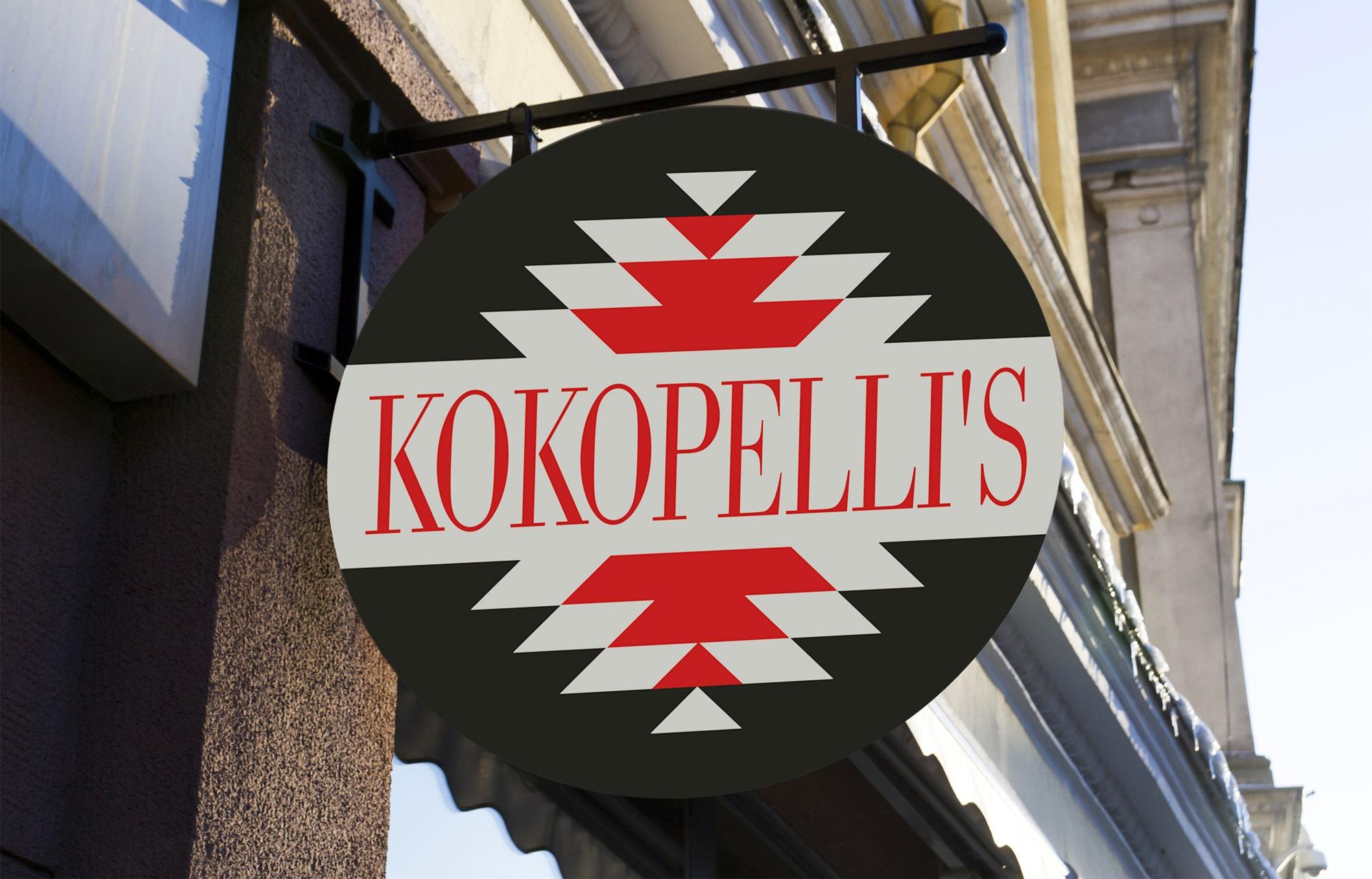 store sign for Kokopelli's